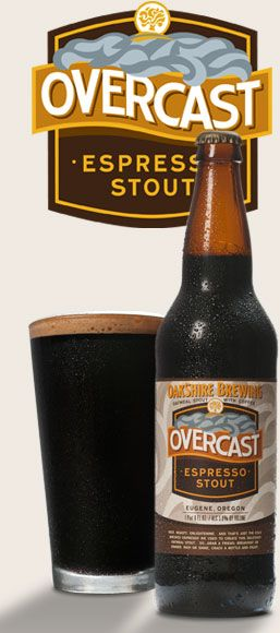 PHENOMENAL BEER, must say.. Overcast Espresso Stout | Oakshire Brewing. oakbrew.com
