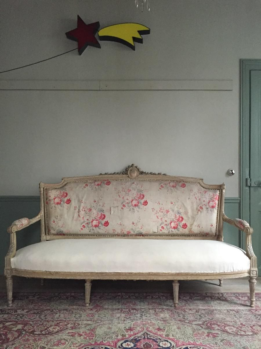 Important Louis XVI style sofa. Original patina. - Gallery - Nomibis