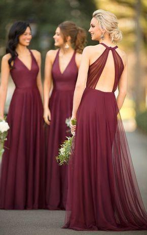 Sorella Vita Bidesmaid Dresses 2019 With Images Long Bridesmaid Dresses Bridesmaid Dress Styles Burgandy Bridesmaids Dress