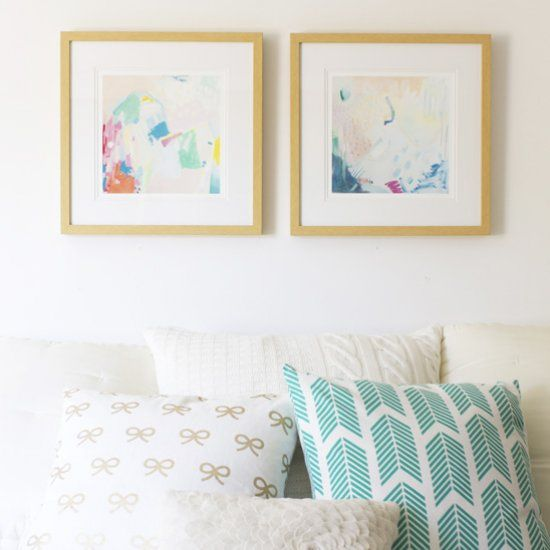 I hung up some cheery new art in our bedroom, and made a few other small changes. What do you think?