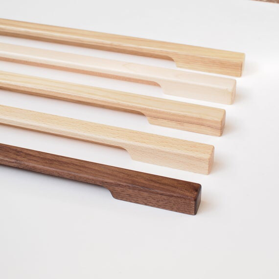 Thin Line Wooden Cabinet Pulls Wood Drawer Pulls Wooden Etsy Wood Drawer Pulls Wooden Cabinet Pulls Cabinet Handles