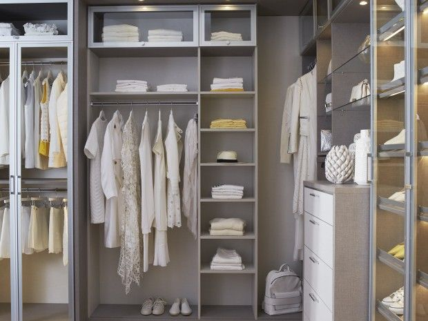 California Closets (Fashionista Walk In): Cubbies, Hanging Storage, Dresser    Corner Used Effectively
