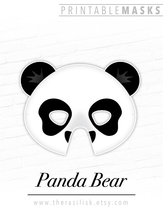 panda bear printable animal mask halloween mask costume photo