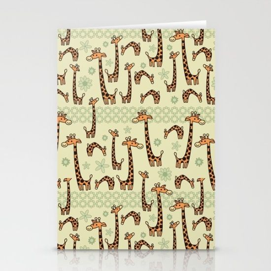 Giraffe Texture  Stationery Cards by Arteresting Shop
