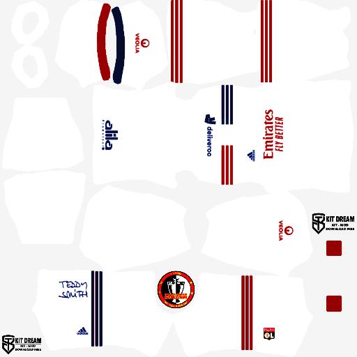 Kits Olympique Lyon 2021 Dream League Soccer 2020 Bong đa Chơi Bong đa Euro