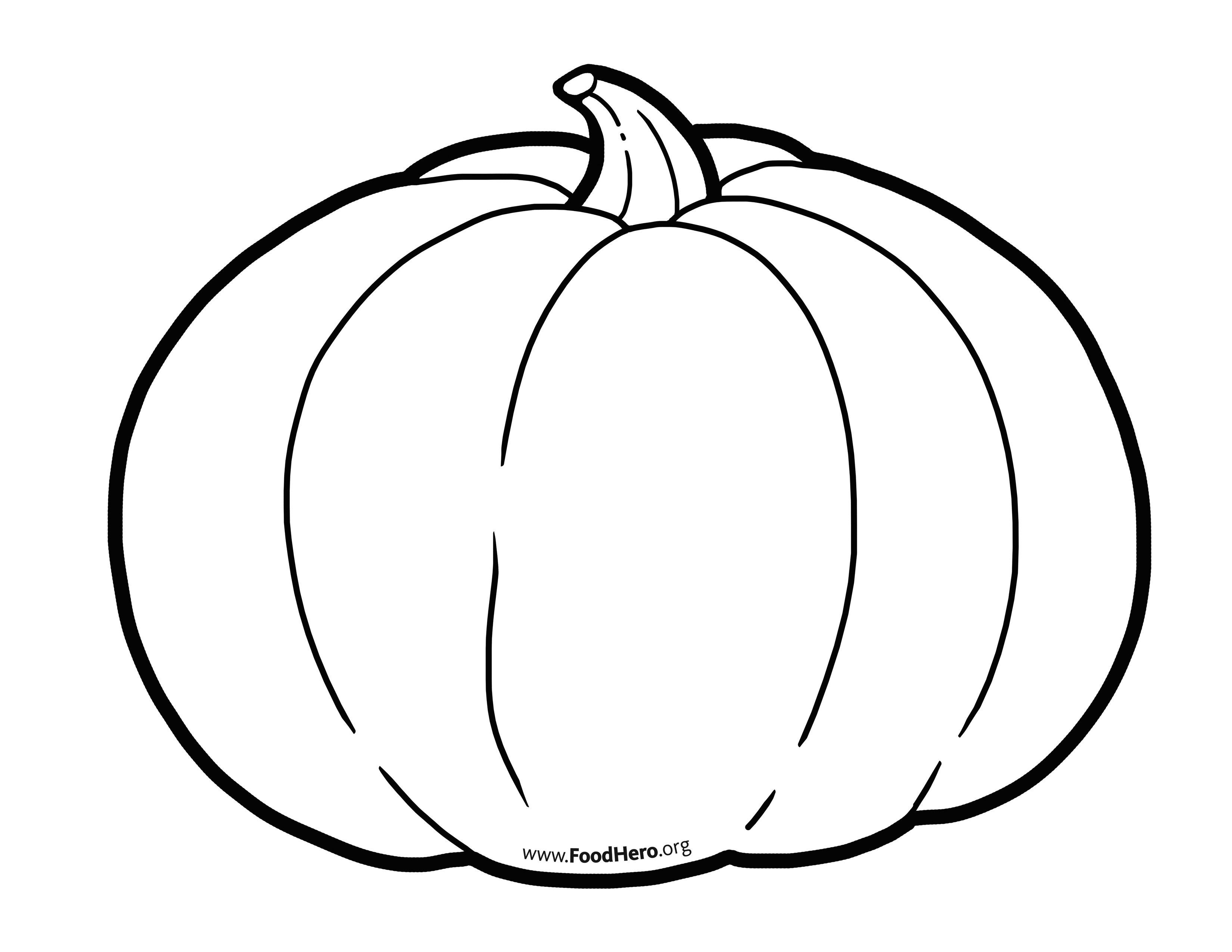 Pumpkin Illustration Foodhero Outline Bullentinboards Pumpkin Fruit Coloring Pages Pumpkin Drawing Paper Plate Crafts For Kids