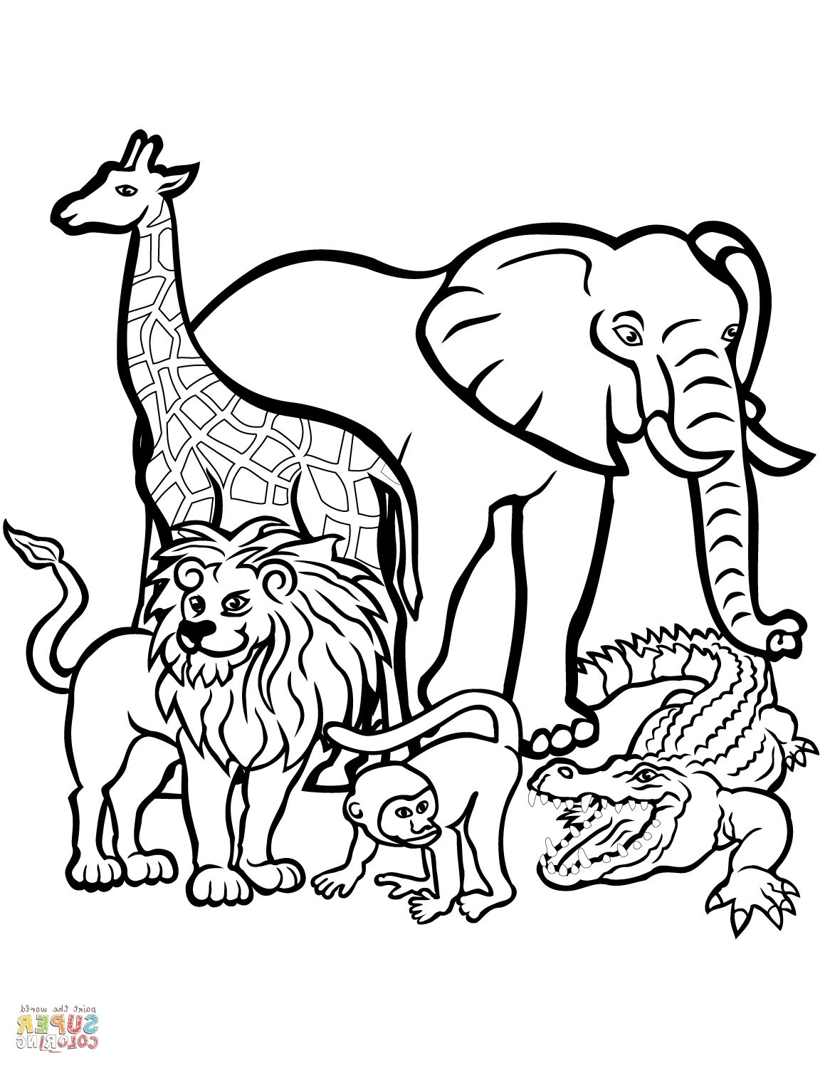 Coloring Pictures Of Animals Iby7 Zoo Animals Coloring Page 26517