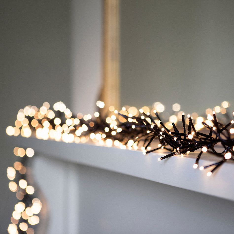 768 Warm White LED Cluster Fairy Lights On Black Cable | Yulegothic ...