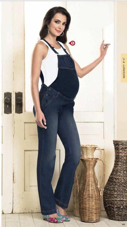 592197e47 Overol azul para mujeres embaradas. Ropa de Maternidad. Colección de Ropa  Andrea Vestir Dama.  maternidad  embarazadas  ropademoda