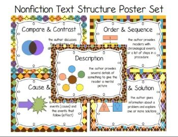 Nonfiction text structure poster set and foldable nonfiction nonfiction text structure poster set and foldable stopboris Gallery