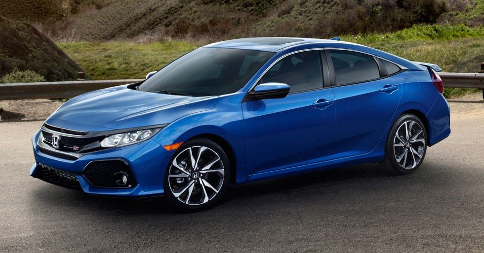 2018 Honda Civic Si Sedan Coupe Coming With A 205hp 1 5l Turbo And A Lot Of Attitude Carscoops Honda Civic Si Honda Civic Vtec Honda Civic Sedan
