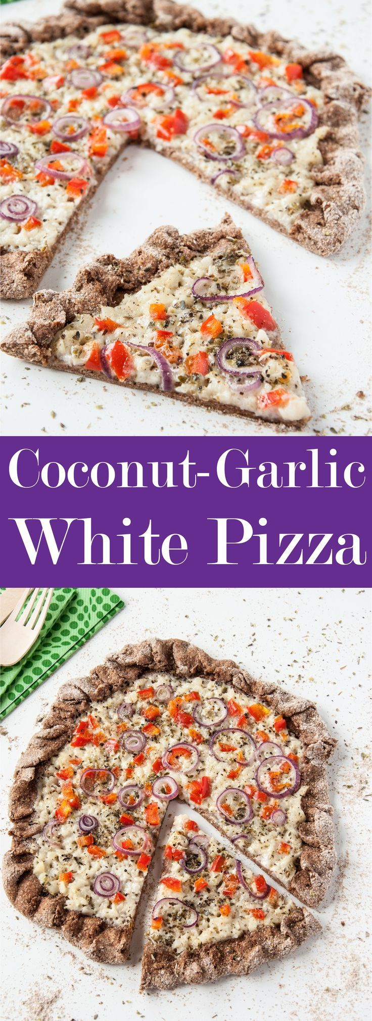 Coconut and Garlic White Pizza  Vegan Family Recipes CoconutGarlic White Pizza Recipe w Hearty Whole Wheat Crust