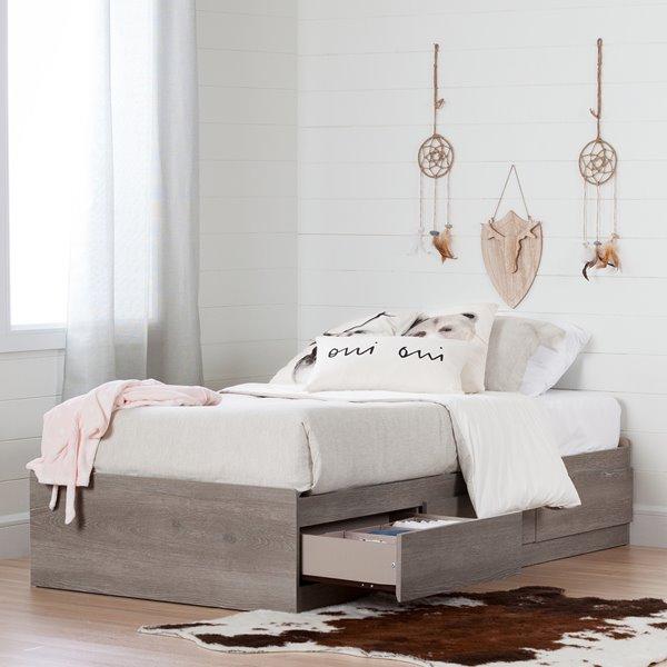 South Shore Furniture Savannah 3 Drawer Sand Oak Mates Bed 10595