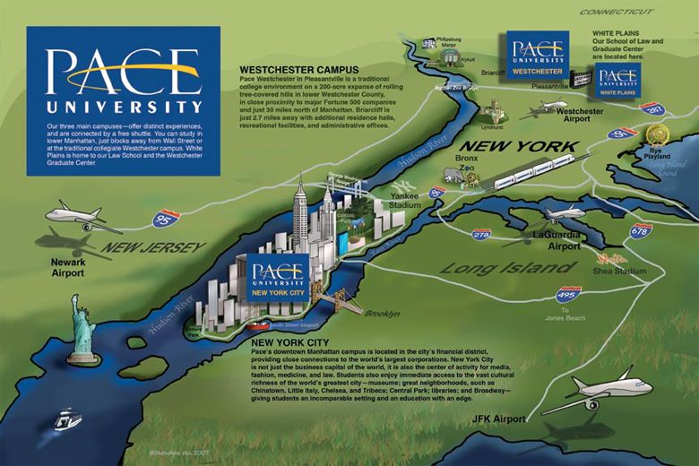 Pace University Pleasantville Campus Map.New York City Campus Map Pace University Pace University Campus