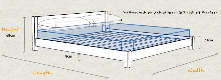 Low Oriental Bed Marcenaria