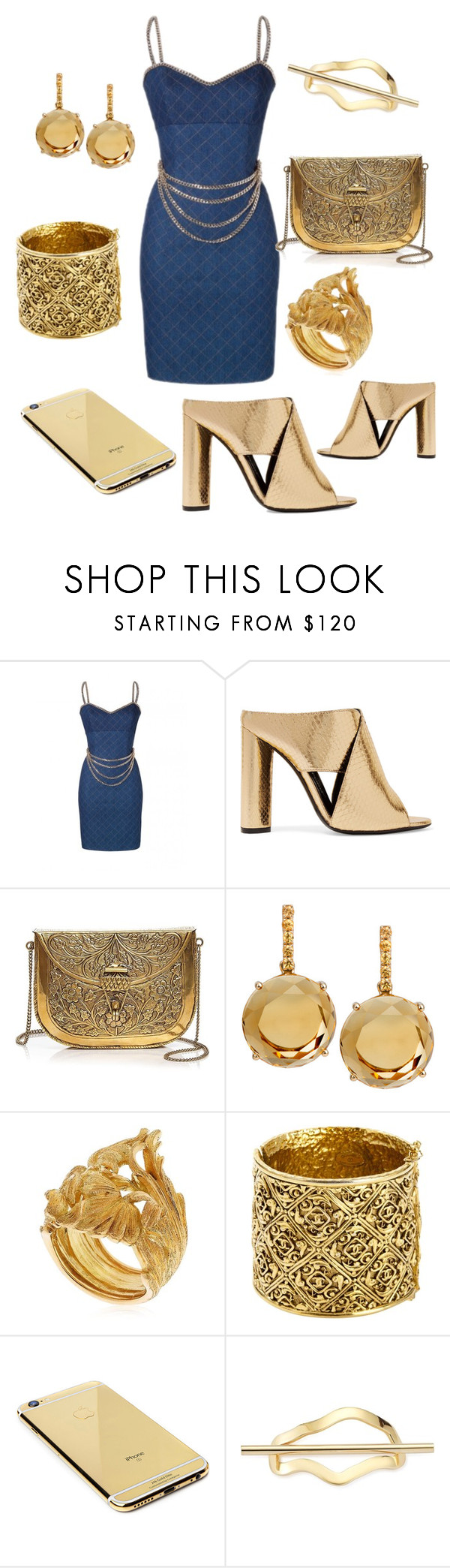 """""""denim"""" by diiannnnnnnnaa ❤ liked on Polyvore featuring Tom Ford, From St Xavier, Plukka, Vanzi, Chanel, Goldgenie and Elizabeth and James"""