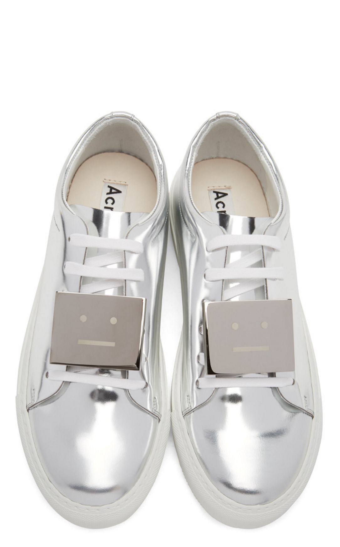 Acne Studios SSENSE Exclusive Silver Adrian Sneakers from
