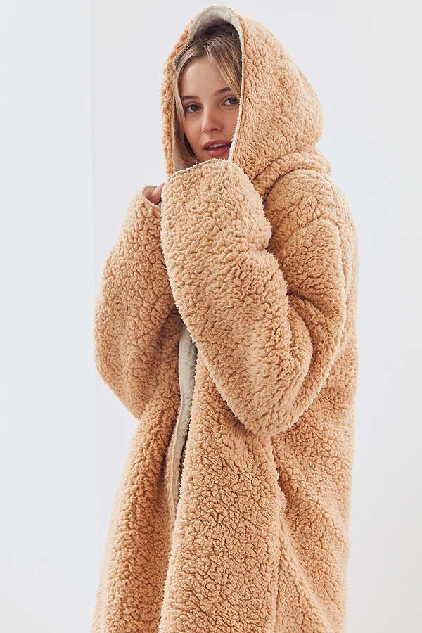 03827bd42 Faux fur teddy jackets and teddy bear coats are trending, snugly and pretty  affordable.