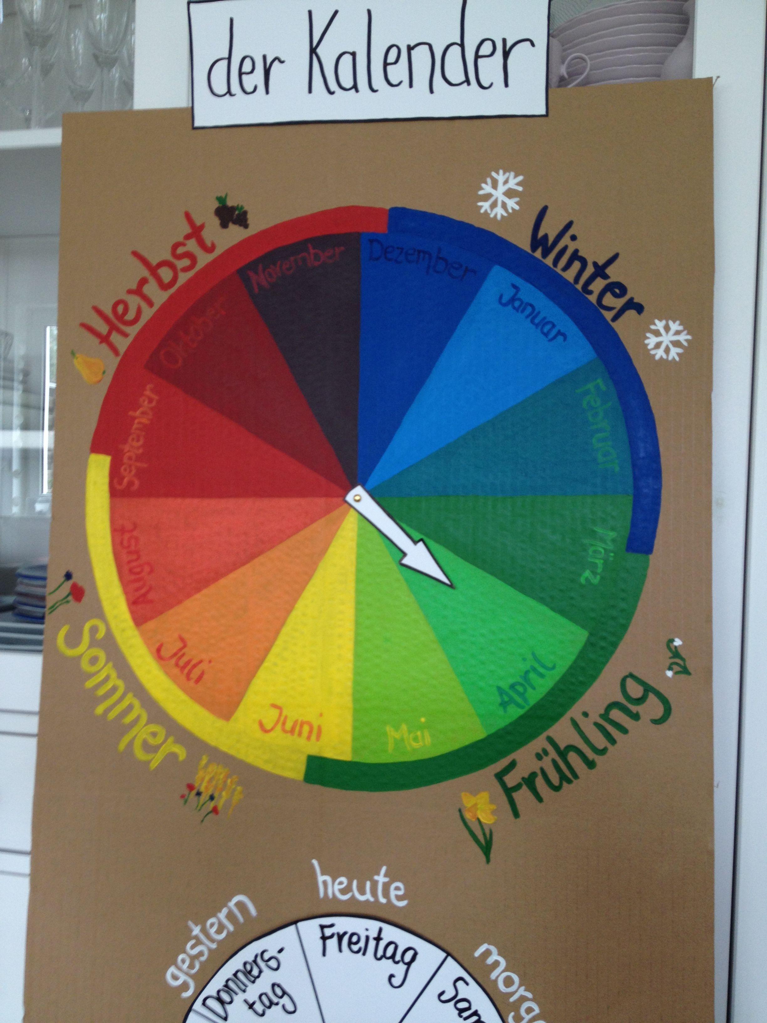 Jahresuhr Kalender Kinder und Schule Kalender für kinder