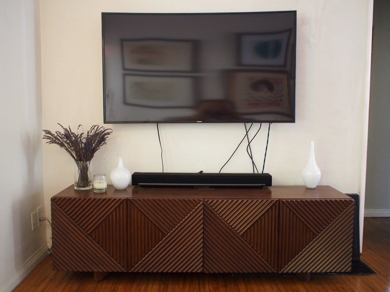 How To Hide Tv Cords And Cables Hide Tv Cords Hidden Tv Hiding Tv Cords On Wall