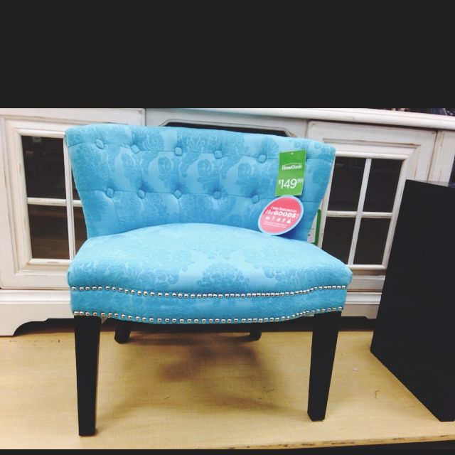 Blue Studded Accent Chair