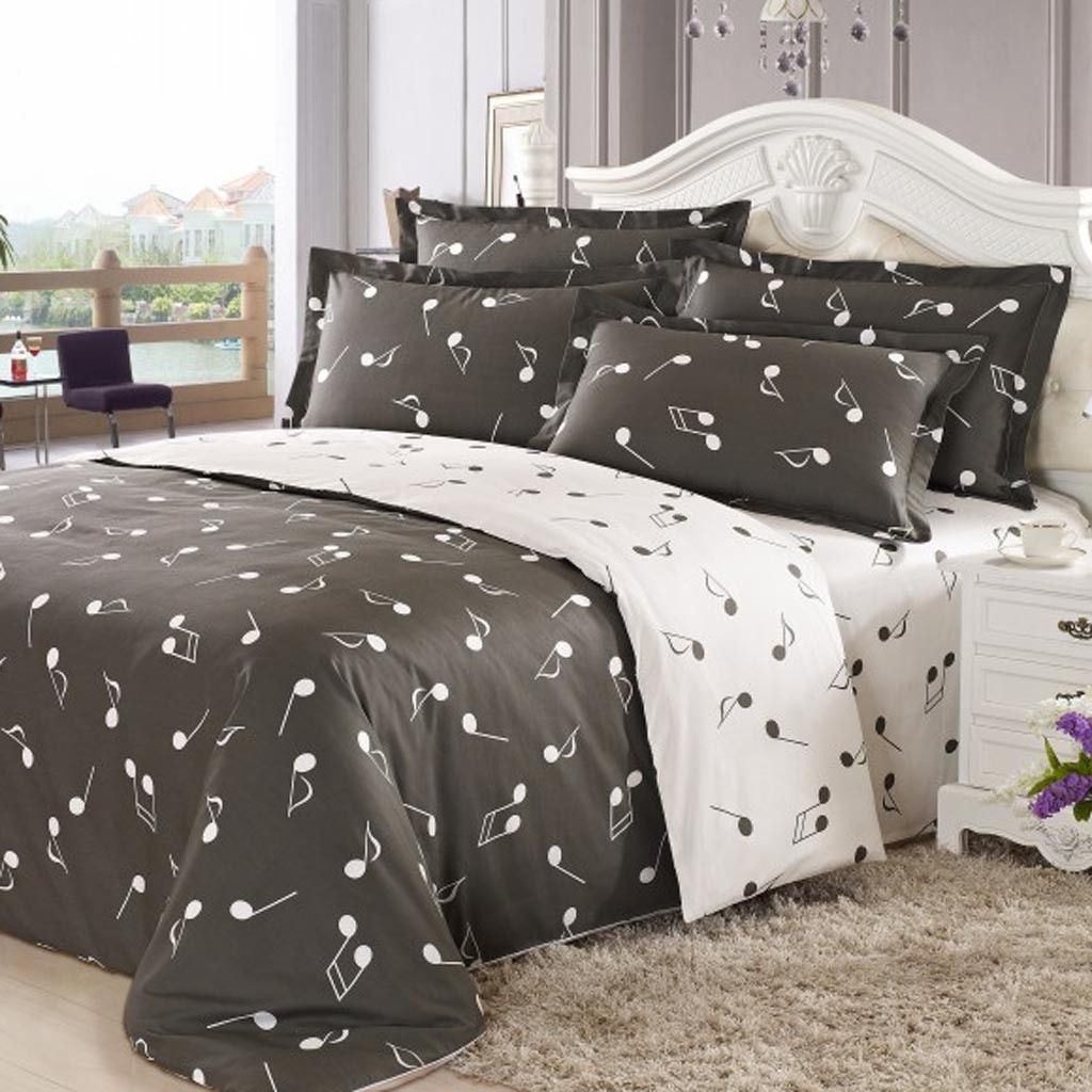 Music Note Queen Duvet Cover Set