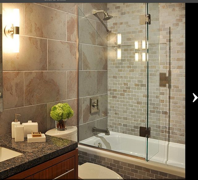 Drop in tub on pinterest caledonia granite tile tub for Drop in bathtub shower combo