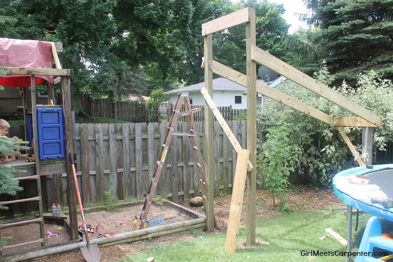 5 Build A Ninja Course In Your Backyard Using Your Existing Swing