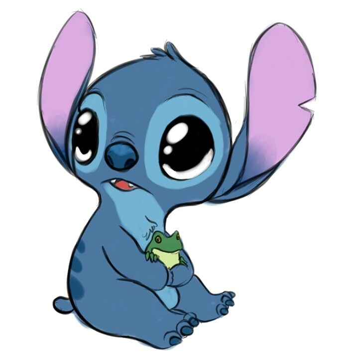 An Adorable Stitch When He Was A Little One