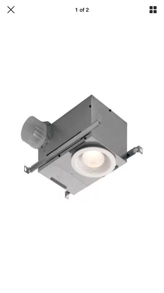 Ventilation Fan With Recessed Light Broans 75 Watt No Humidity In