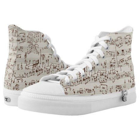 Music notes High-Top sneakers | Zazzle.com