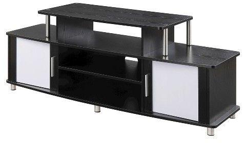 Laguna Tv Stand 60 Black Designs2go Cabinet Shelving