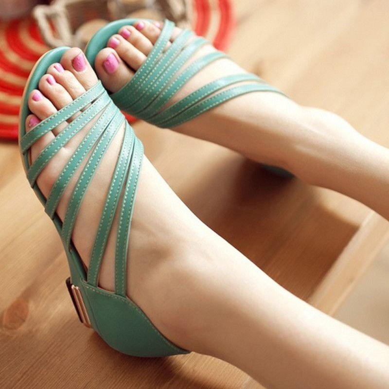 c443bd681 2016 New Women s Sandals Summer Fashion Sweet Dress sandals hollow low heel  shoes lady casual shoes size 33-43 AA010