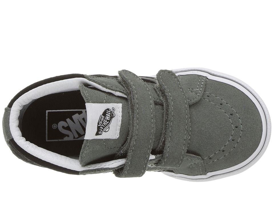 9ad567267c Vans Kids Sk8-Mid Reissue V (Toddler) Boys Shoes (Two-Tone) Castor  Gray Black