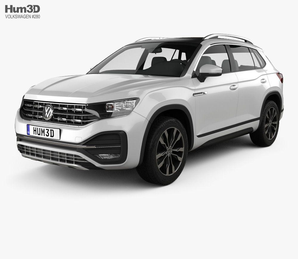 3D Model Of Volkswagen Tayron R-Line 2018