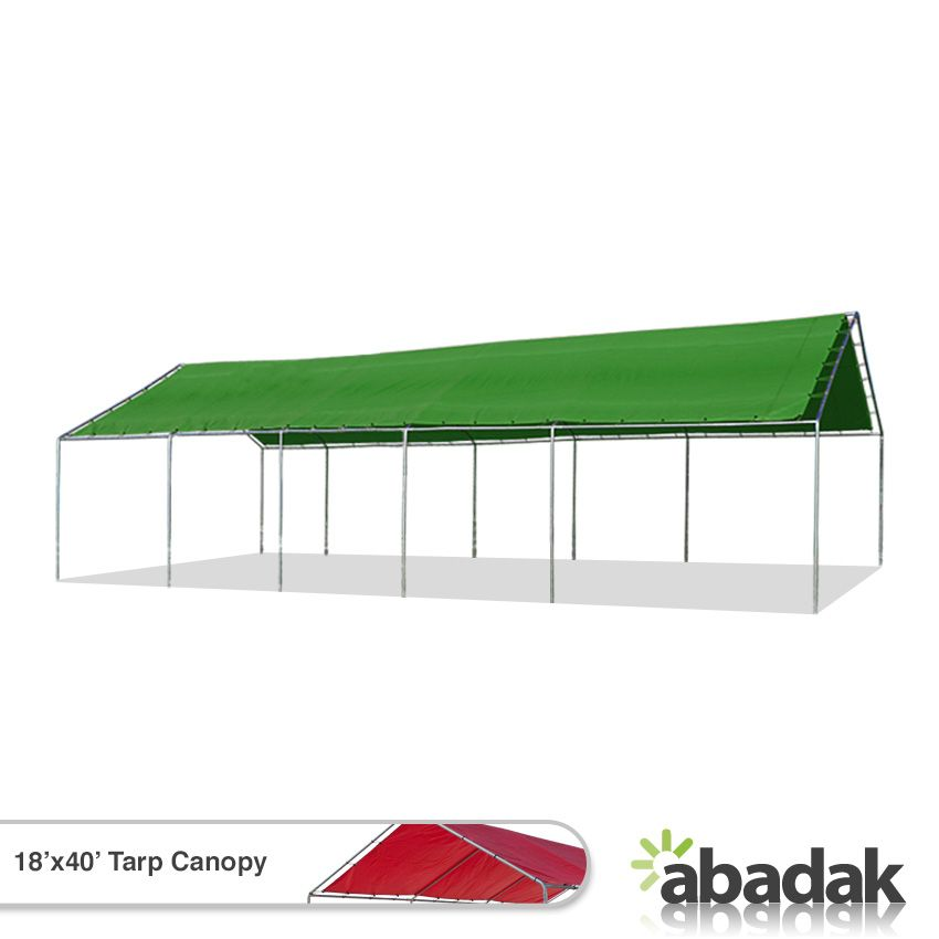e37b3e8e0295c3e702a547185544870f.jpg  sc 1 st  Pinterest & The 18u0027 x 40u0027 Canopy With Tarp Top provides a wide covered area at ...