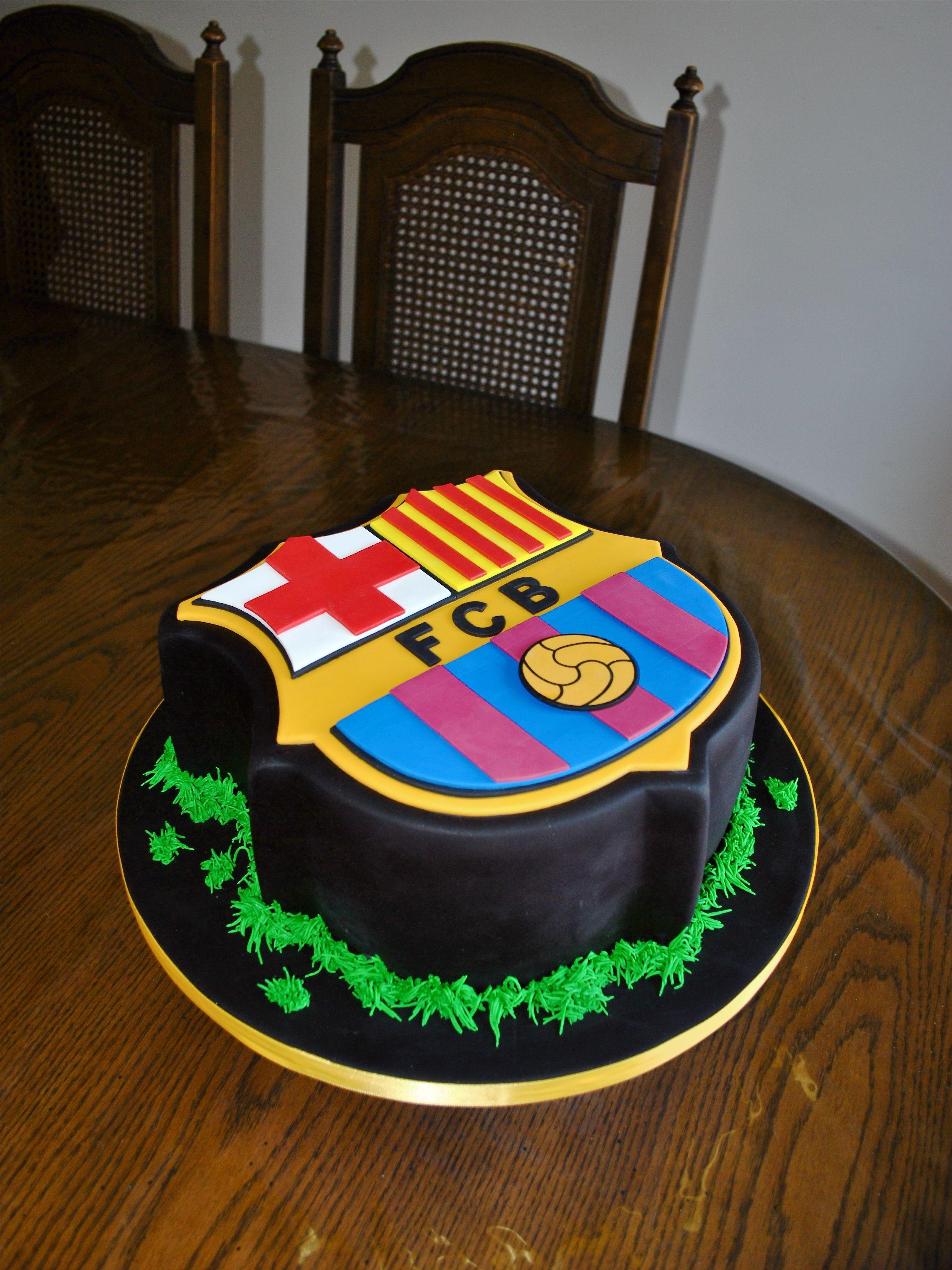 FCB Cake Footballakasoccer My Lil Cakery Pinterest Cake - Football cakes for birthdays