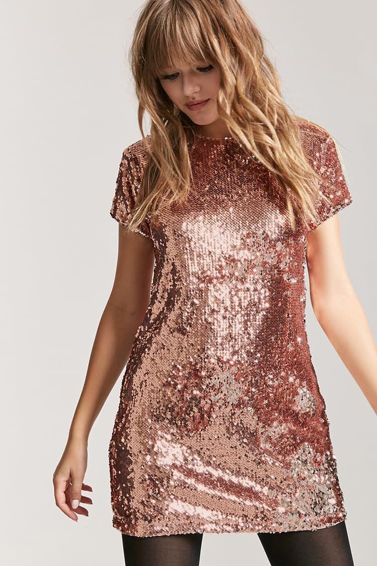 8d26e78d3c Metallic Sequin Shift Dress