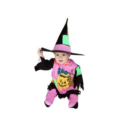 Disfraces de Halloween Disfraz de Brujita para bebe, compuesto por