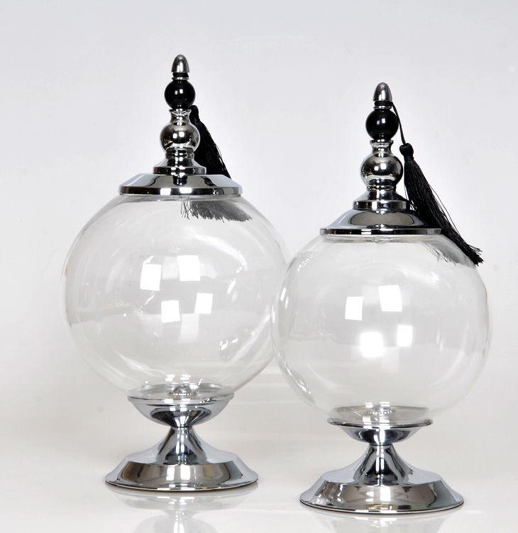 decorative glass storage jars - Decorative Glass Jars