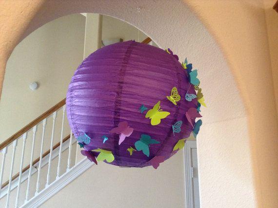 14 exotic berry paper lantern butterfly lantern by New8eginnings