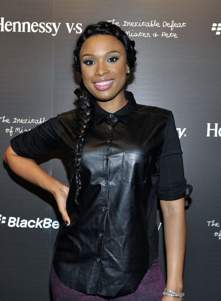 Hudson Jennifer Hudson: To celebrate the premiere of The Inevitable Defeat of Mister and Pete, Jennifer Hudson twisted together two braids into a tousled, off-to-the-side style. The look was complete with a smoky eye and pink lipstick.Jennifer Hudson: To celebrate the premiere of The Inevitable Defeat of Mister and Pete, Jennifer Hudson tw...