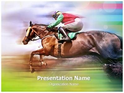 Horse Race Powerpoint Template Is One Of The Best Powerpoint