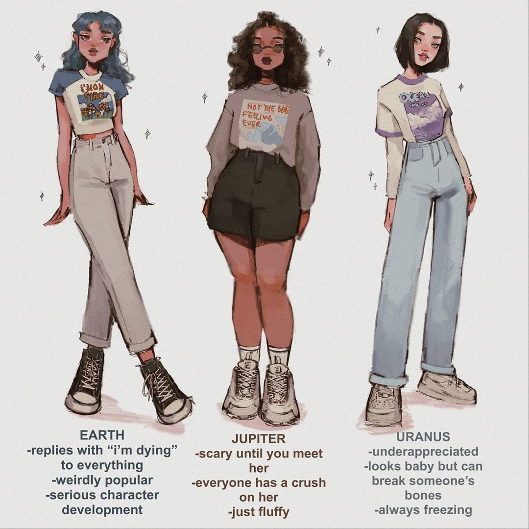 P I Z Z A B A C O N On Instagram Choose Your Fighter Planet Edition Shoutout To The Sister Pluto In 2020 Aesthetic Clothes Art Clothes Fashion Design Drawings