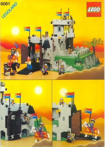 Lego Set 6081 1 Kings Mountain Fortress Building Instructions And