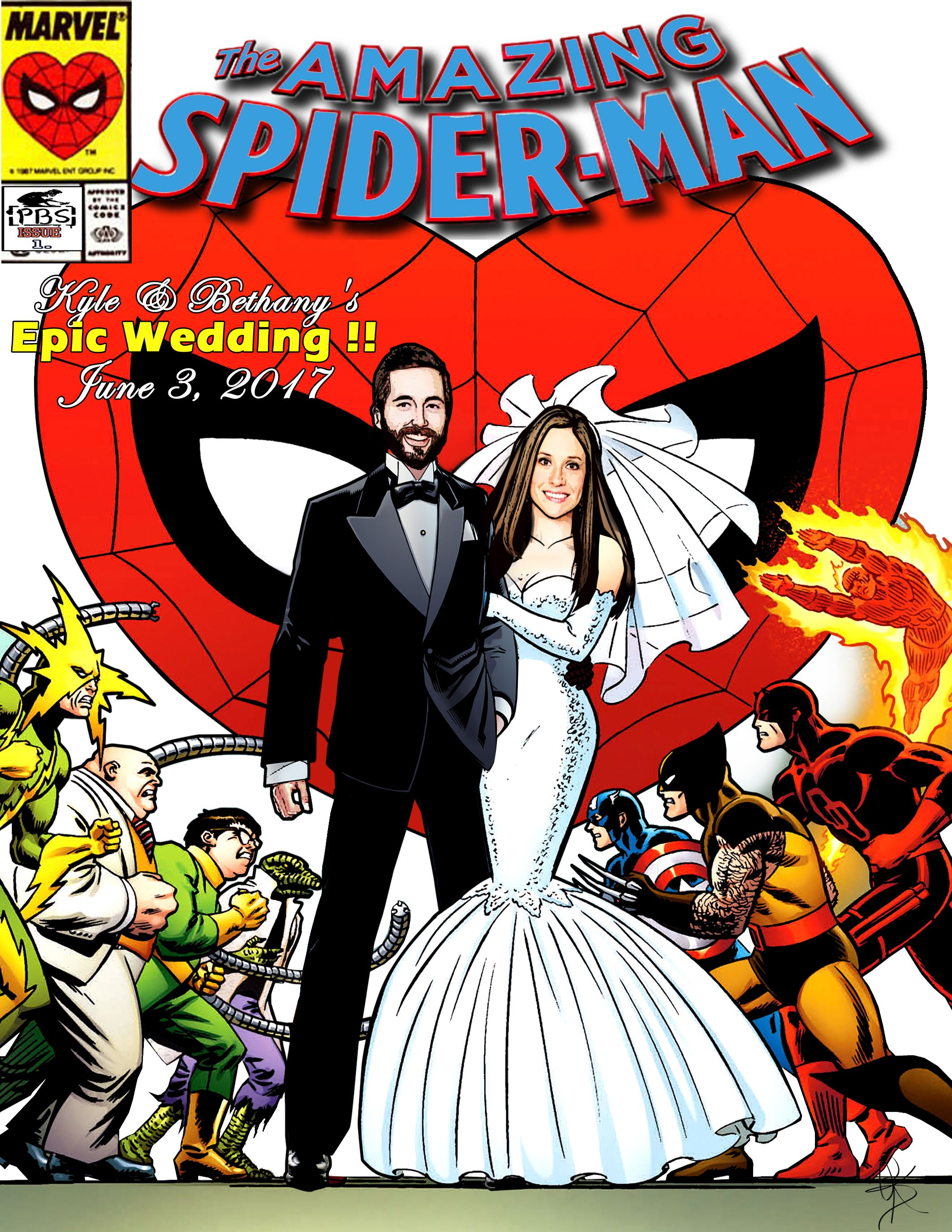 Personalized comic book cover | Wedding Ideas | Pinterest