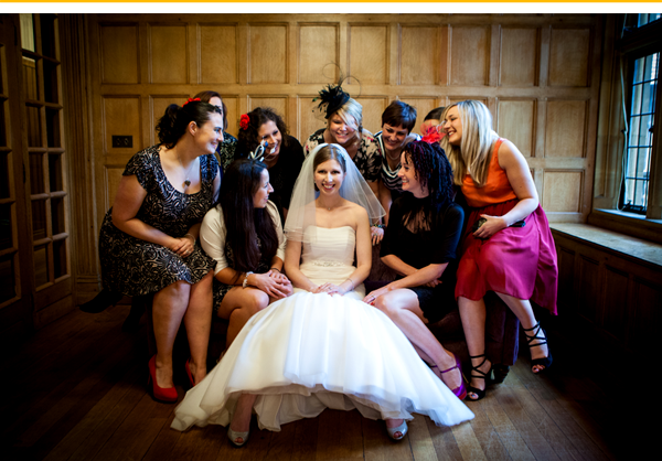 Bride And Girls Group Photo