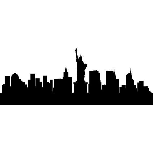 New York City Skyline Big Apple Silhouette Vinyl Decal Home Decor Large Size 15 Wall Decor New York Skyline Silhouette Apple Silhouette Silhouette Wall Art