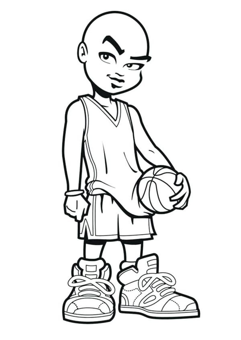 Comfrey Basketball Rockets Logo Coloring Pages