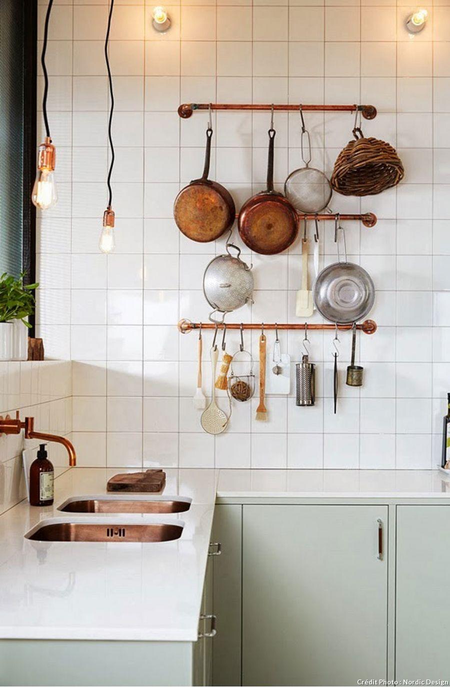 Recyclez vos tuyaux de cuivre en objets déco  Cuisine couleur